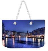 Venice By Night Weekender Tote Bag