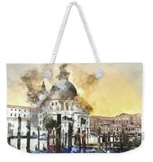Venice Italy Digital Watercolor On Photograph Weekender Tote Bag