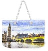 Westminster Bridge And Big Ben Art Weekender Tote Bag