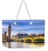 Westminster Bridge And Big Ben Weekender Tote Bag