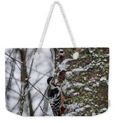 White-backed Woodpecker Weekender Tote Bag