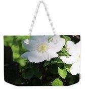 White Flowers Weekender Tote Bag