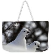 Willow Ptarmigan Weekender Tote Bag
