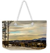 Winter Landscape And Snow Covered Roads In The Mountains Weekender Tote Bag