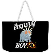 4 Years Old Birthday Design Dinosuar Shirt Weekender Tote Bag