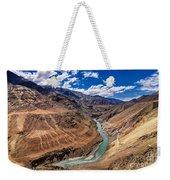 Zanskar River Ladakh Jammu And Kashmir India Weekender Tote Bag