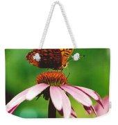 #416 14a Butterfly Fritillary, Coneflower Lunch Break Good Till The Last Drop Weekender Tote Bag