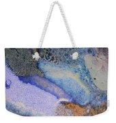 42. Blue Purple Black Glaze Painting Weekender Tote Bag