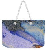 42. V1 Blue Purple Black Glaze Painting Weekender Tote Bag