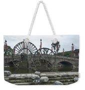 4357- Water Wheels Weekender Tote Bag