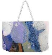44. Blue Purple White Glaze Painting Weekender Tote Bag