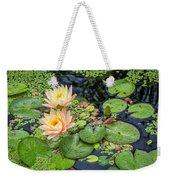 4445- Lily Pads Weekender Tote Bag