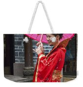 4503- Girl With Umbrella Weekender Tote Bag