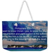 Bible Verse  Weekender Tote Bag
