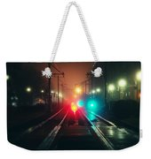 47015 Miscellaneous Rail Track Rail Track And Lights Weekender Tote Bag