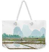 Karst Rural Scenery In Spring Weekender Tote Bag