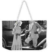 Silent Film Still: Couples Weekender Tote Bag
