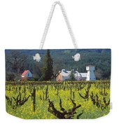 4b6394 Mustard In The Vineyards Weekender Tote Bag