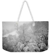 Abstract Scenes At Ski Resort During Snow Storm Weekender Tote Bag
