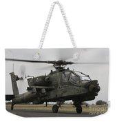 Ah-64 Apache Helicopter On The Runway Weekender Tote Bag