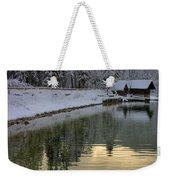 Alpine Winter Reflections Weekender Tote Bag