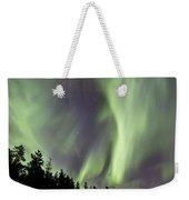 Aurora Borealis Over Trees, Yukon Weekender Tote Bag