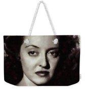 Bette Davis Vintage Hollywood Actress Weekender Tote Bag