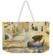 Bridge With Figures Weekender Tote Bag