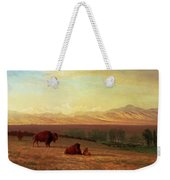 Buffalo On The Plains Weekender Tote Bag