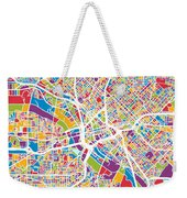Dallas Texas City Map Weekender Tote Bag