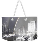 Docklands Double Rainbow Weekender Tote Bag
