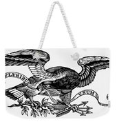 Eagle, 19th Century Weekender Tote Bag