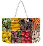 Fruit And Vegetable Collage Weekender Tote Bag