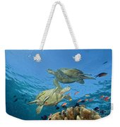 Green Sea Turtle Weekender Tote Bag