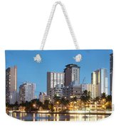 Honolulu Skyline Panorama Weekender Tote Bag