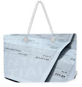 Income Inequality Paychecks Weekender Tote Bag