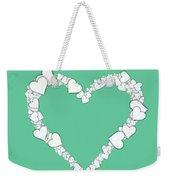 Love Heart Valentine Shape Weekender Tote Bag