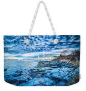 Newport Bridge Connecting Newport And Jamestown At Sunrise Weekender Tote Bag