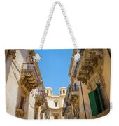 Noto, Sicily, Italy - Detail Of Baroque Balcony, 1750 Weekender Tote Bag