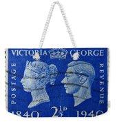 Old British Postage Stamp Weekender Tote Bag