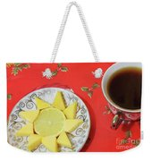 On The Eve Of Christmas. Tea Drinking With Cheese. Weekender Tote Bag