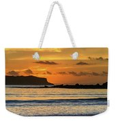 Orange Sunrise Seascape Weekender Tote Bag