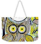 Owl Midnight Weekender Tote Bag