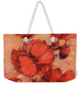 Poppy Flowers Handmade Oil Painting On Canvas Weekender Tote Bag