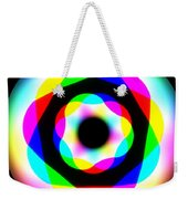 Rainbow Waves Weekender Tote Bag