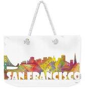 San Francisco California Skyline Weekender Tote Bag