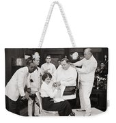 Silent Still: Barber Shop Weekender Tote Bag by Granger