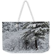 Snowstorm In The Pike National Forest Weekender Tote Bag