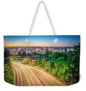 Spokane Washington City Skyline And Streets Weekender Tote Bag