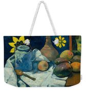 Still Life With Teapot And Fruit Weekender Tote Bag